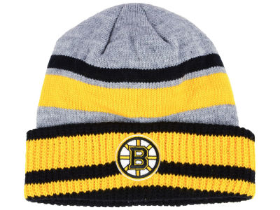 Boston Bruins adidas NHL Heathered Grey Beanie