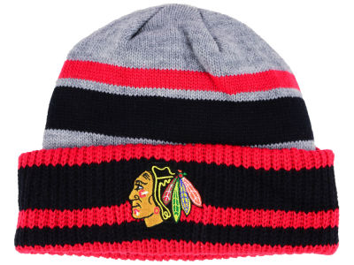 Chicago Blackhawks adidas NHL Heathered Grey Beanie