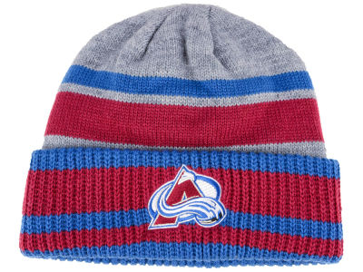 Colorado Avalanche adidas NHL Heathered Grey Beanie