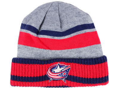 Columbus Blue Jackets adidas NHL Heathered Grey Beanie