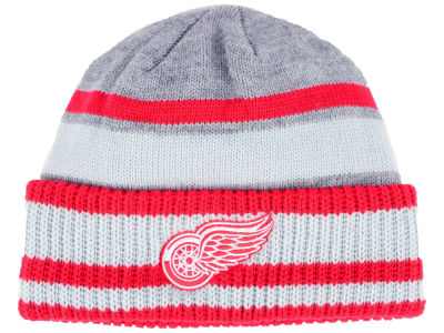Detroit Red Wings adidas NHL Heathered Grey Beanie