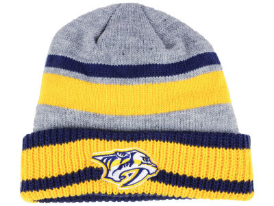 Nashville Predators adidas NHL Heathered Grey Beanie