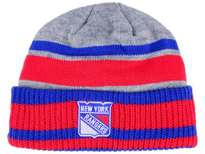 New York Rangers adidas NHL Heathered Grey Beanie