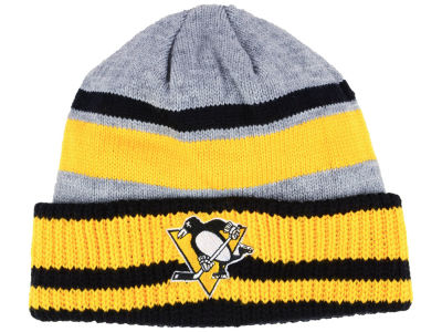 Pittsburgh Penguins adidas NHL Heathered Grey Beanie