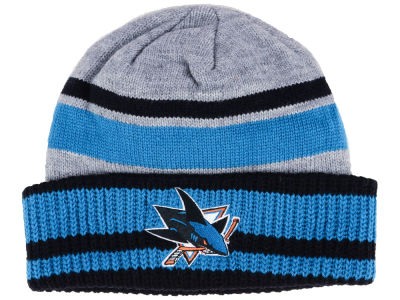 San Jose Sharks adidas NHL Heathered Grey Beanie
