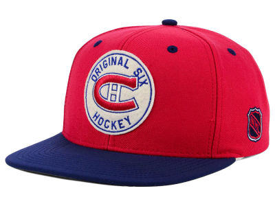 buy popular b2f81 b6b00 Montreal Canadiens adidas NHL Original Six Snapback Cap