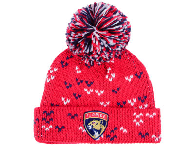 Florida Panthers adidas NHL Women's Cuffed Pom Knit
