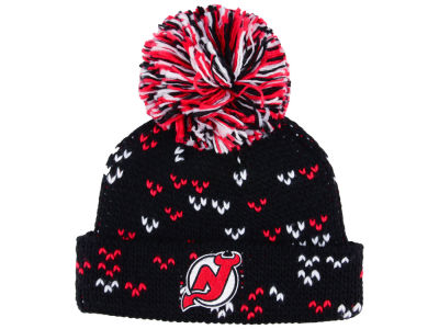New Jersey Devils adidas NHL Women's Cuffed Pom Knit