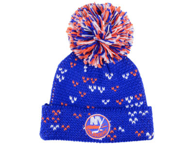 New York Islanders adidas NHL Women's Cuffed Pom Knit