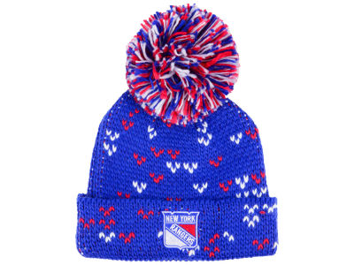 New York Rangers adidas NHL Women's Cuffed Pom Knit