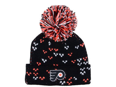 Philadelphia Flyers adidas NHL Women's Cuffed Pom Knit