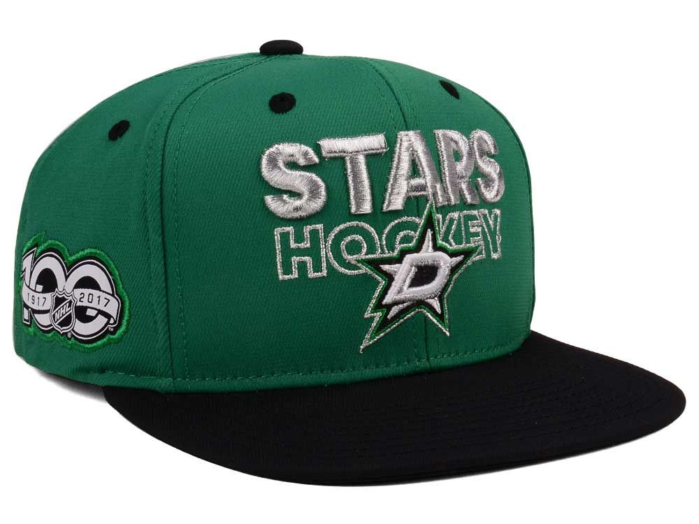 more photos 21b11 0169e ... clearance dallas stars adidas nhl 100th celebration snapback cap 5a920  a4d0a