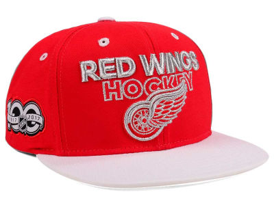 Detroit Red Wings adidas NHL 100th Celebration Snapback Cap