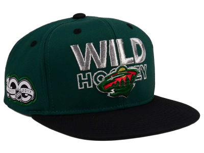 Minnesota Wild adidas NHL 100th Celebration Snapback Cap