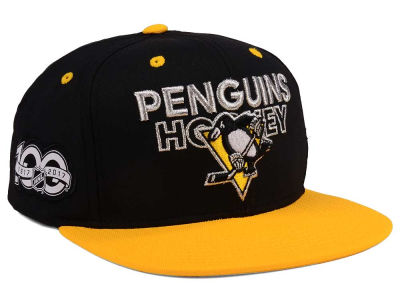 Pittsburgh Penguins adidas NHL 100th Celebration Snapback Cap