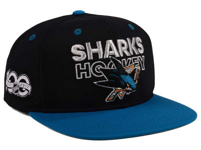 San Jose Sharks adidas NHL 100th Celebration Snapback Cap