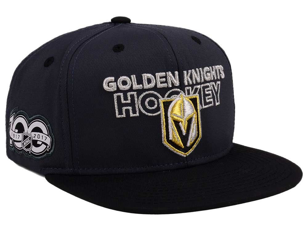 6272c9b887b Vegas Golden Knights adidas NHL 100th Celebration Snapback Cap ...