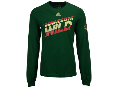 Minnesota Wild adidas NHL Men's Line Shift Long Sleeve T-shirt
