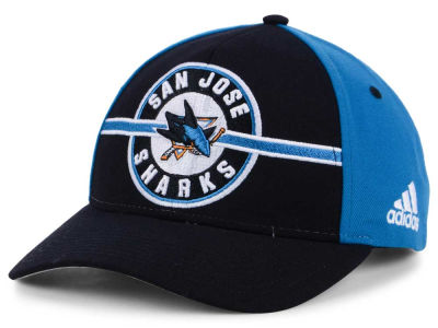 San Jose Sharks adidas NHL Circle Adjustable Cap