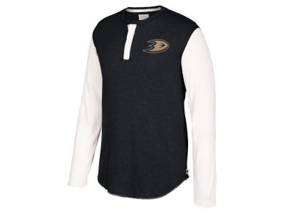 Anaheim Ducks CCM NHL Men's Long Sleeve Henley T-shirt