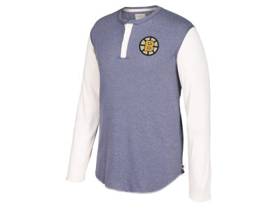 Boston Bruins CCM NHL Men's Long Sleeve Henley T-shirt
