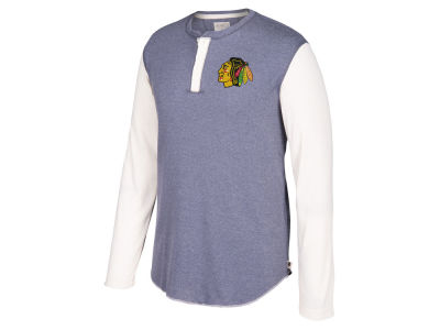 Chicago Blackhawks CCM NHL Men's Long Sleeve Henley T-shirt