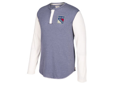 New York Rangers CCM NHL Men's Long Sleeve Henley T-shirt
