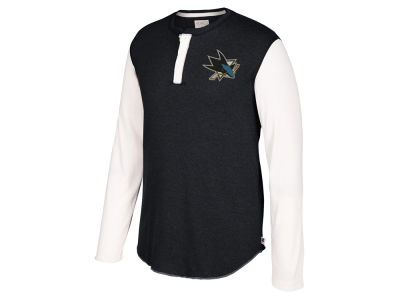 San Jose Sharks CCM NHL Men's Long Sleeve Henley T-shirt
