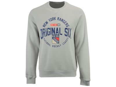 New York Rangers CCM NHL Men's Original 6 Classic Crew Sweatshirt