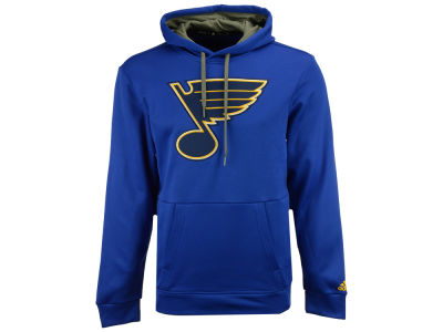 St. Louis Blues adidas NHL Men's Primary Pullover Social Hoodie