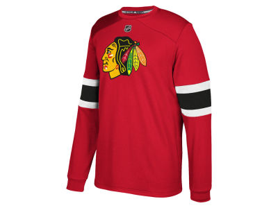 Chicago Blackhawks adidas NHL Men's Platinum Long Sleeve Jersey T-shirt
