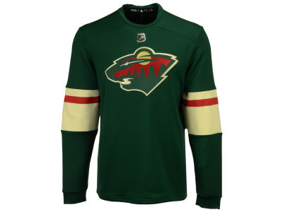 Minnesota Wild adidas NHL Men's Platinum Long Sleeve Jersey T-shirt