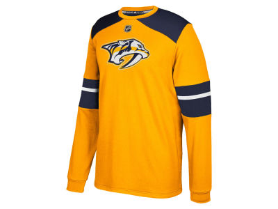 Nashville Predators adidas NHL Men's Platinum Long Sleeve Jersey T-shirt
