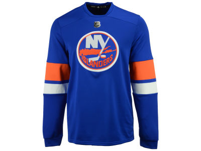 New York Islanders adidas NHL Men's Platinum Long Sleeve Jersey T-shirt
