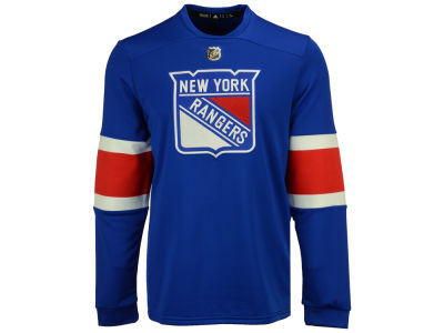 New York Rangers adidas NHL Men's Platinum Long Sleeve Jersey T-shirt