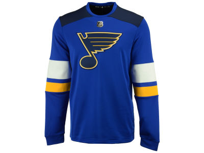 St. Louis Blues adidas NHL Men's Platinum Long Sleeve Jersey T-shirt