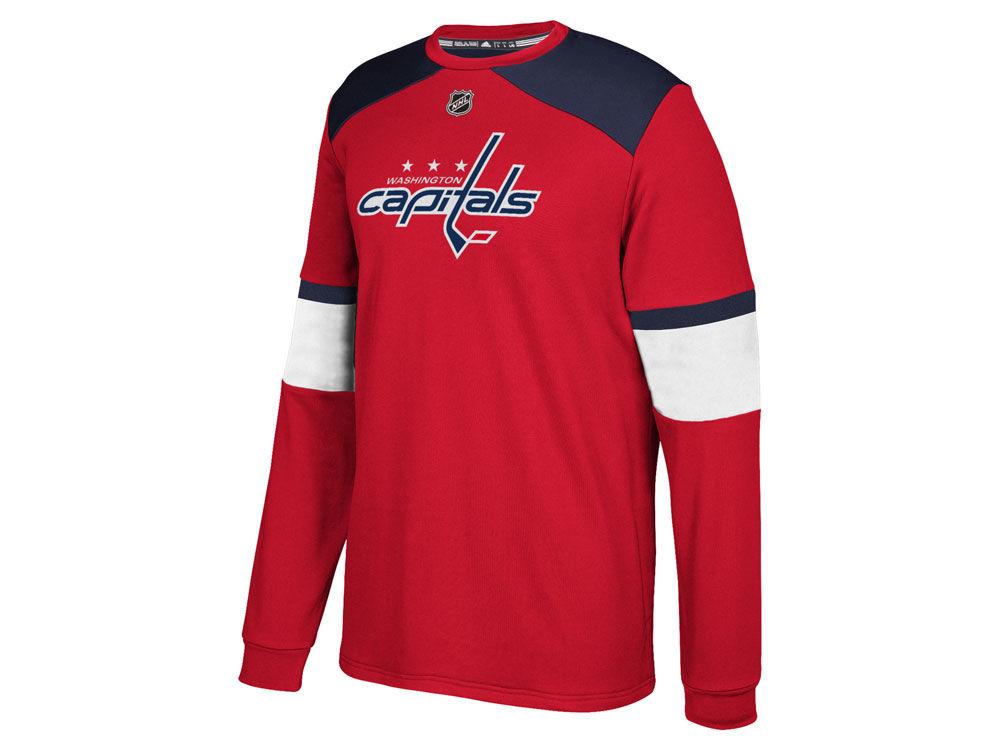 aa53d5f39 Washington Capitals adidas NHL Men s Platinum Long Sleeve Jersey T-shirt