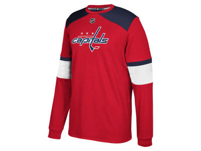 Washington Capitals adidas NHL Men's Platinum Long Sleeve Jersey T-shirt