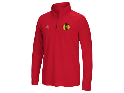 Chicago Blackhawks adidas NHL Men's Left Defenseman Quarter Zip Pullover