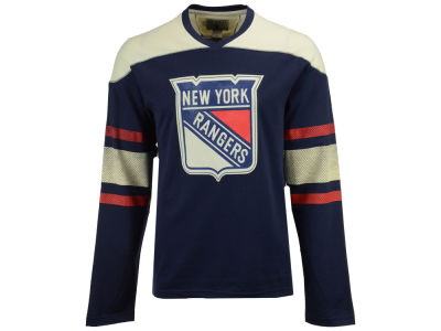 New York Rangers CCM NHL Men's Crew Long Sleeve T-shirt