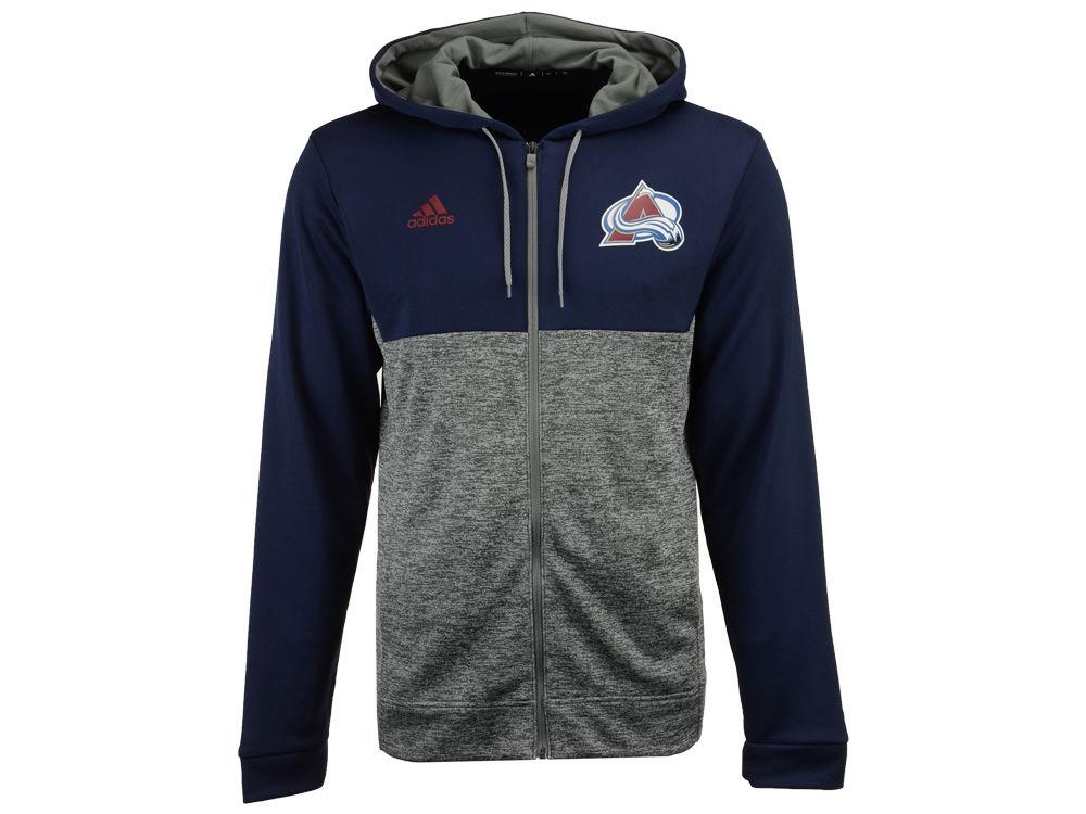 Colorado Avalanche Adidas Nhl Mens Two Tone Full Zip Hoodie Lidscom
