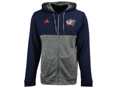 Columbus Blue Jackets adidas NHL Men's Two Tone Full Zip Hoodie