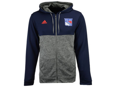 New York Rangers adidas NHL Men's Two Tone Full Zip Hoodie