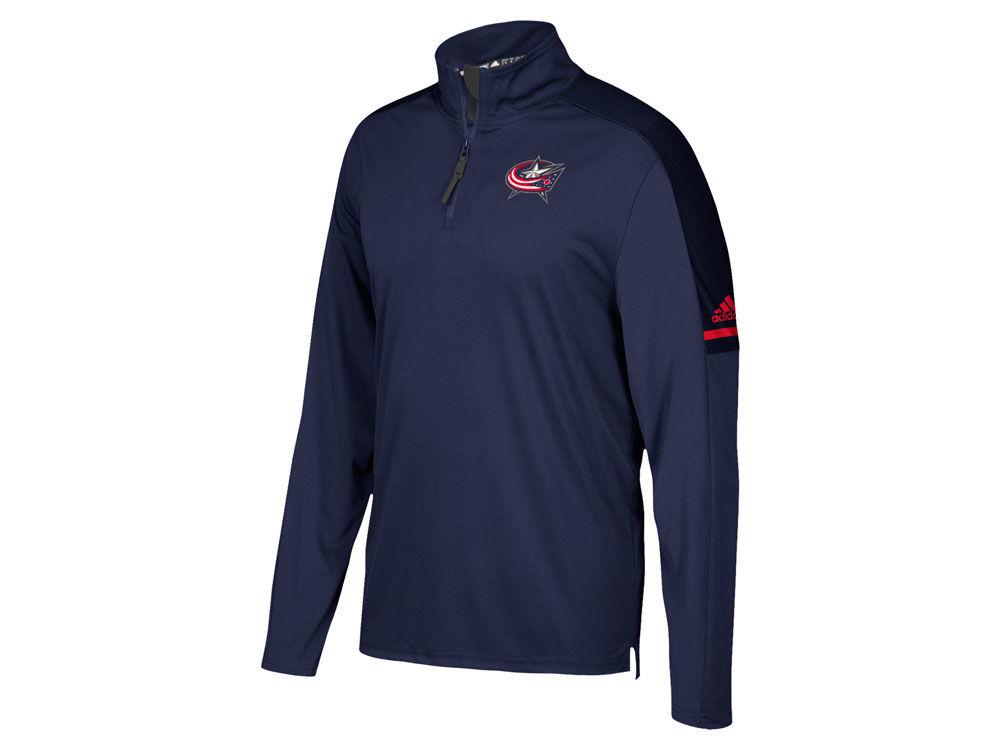 Columbus Blue Jackets adidas NHL Men's Authentic Pro Quarter Zip ...