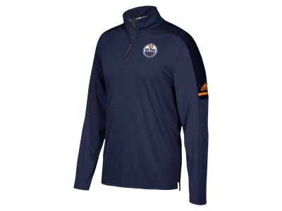 Edmonton Oilers adidas NHL Men's Authentic Pro Quarter Zip Pullover