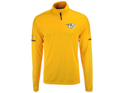 Nashville Predators adidas NHL Men's Authentic Pro Quarter Zip Pullover