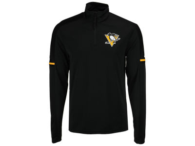 Pittsburgh Penguins adidas NHL Men's Authentic Pro Quarter Zip Pullover