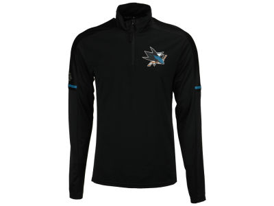 San Jose Sharks adidas NHL Men's Authentic Pro Quarter Zip Pullover