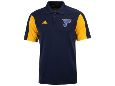St. Louis Blues adidas NHL Men's Authentic Pro Game Day Polo