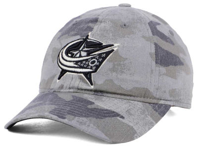 Columbus Blue Jackets adidas NHL Camo Slouch Cap